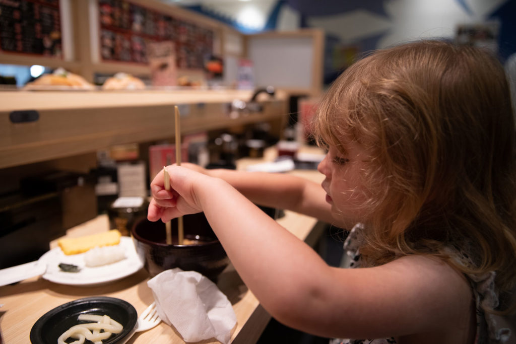 Conveyor Belt Sushi | Osaka with Kids | Family on Standby