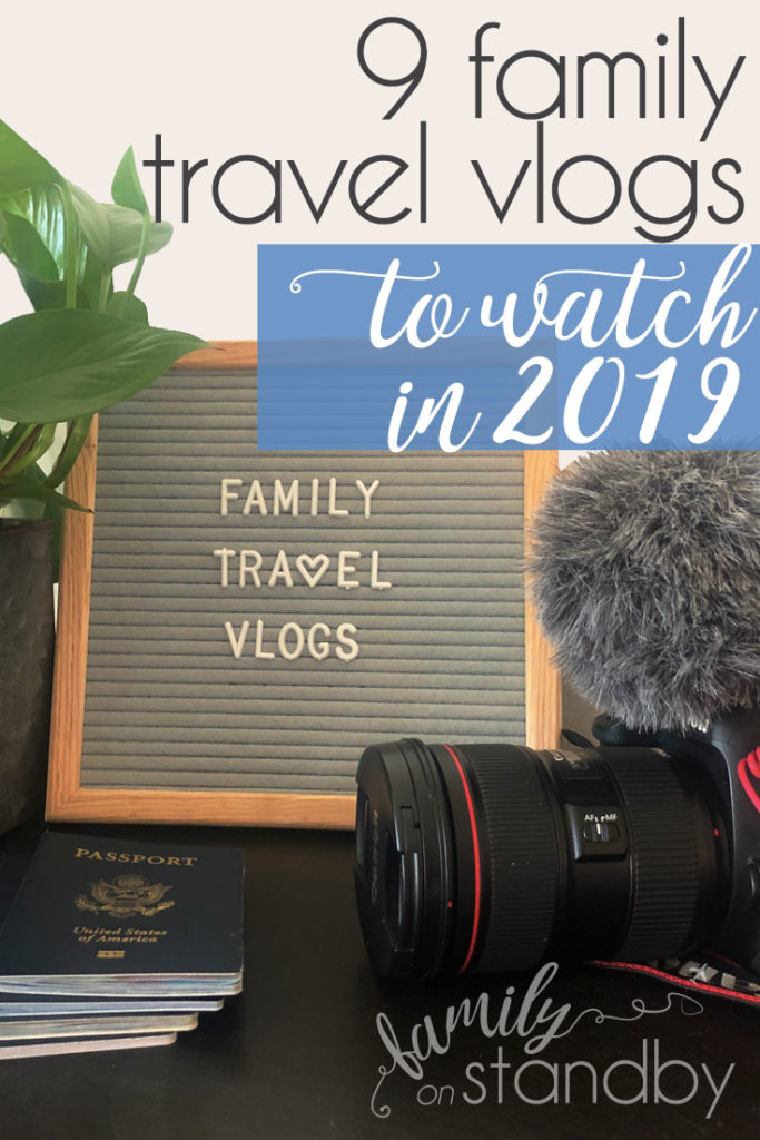 Family Travel Vlogs Vertical Pin