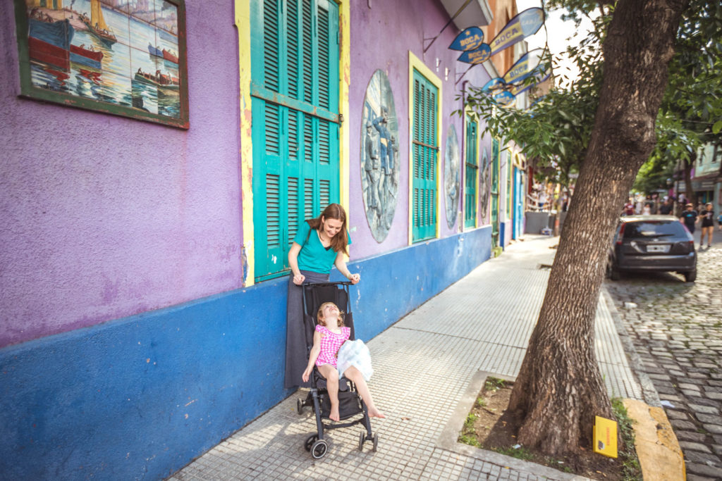 Visiting La Boca with kids