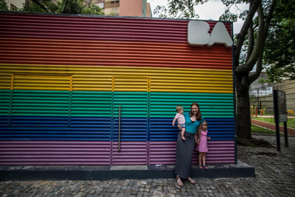 Buenos Aires Rainbow BA Sign