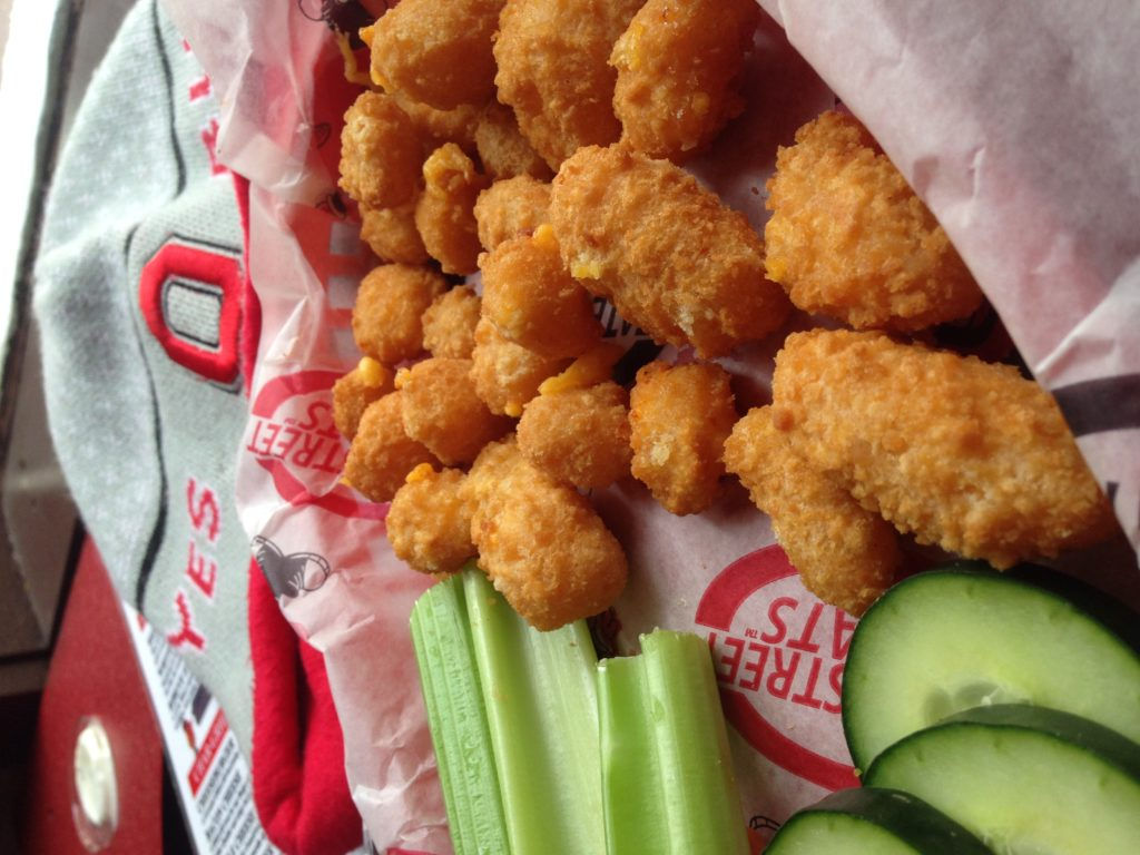 Cheese curds from State Street Brats in Madison Wisconsin