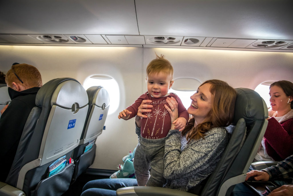 Mom flying with baby - is it safe to fly right now?