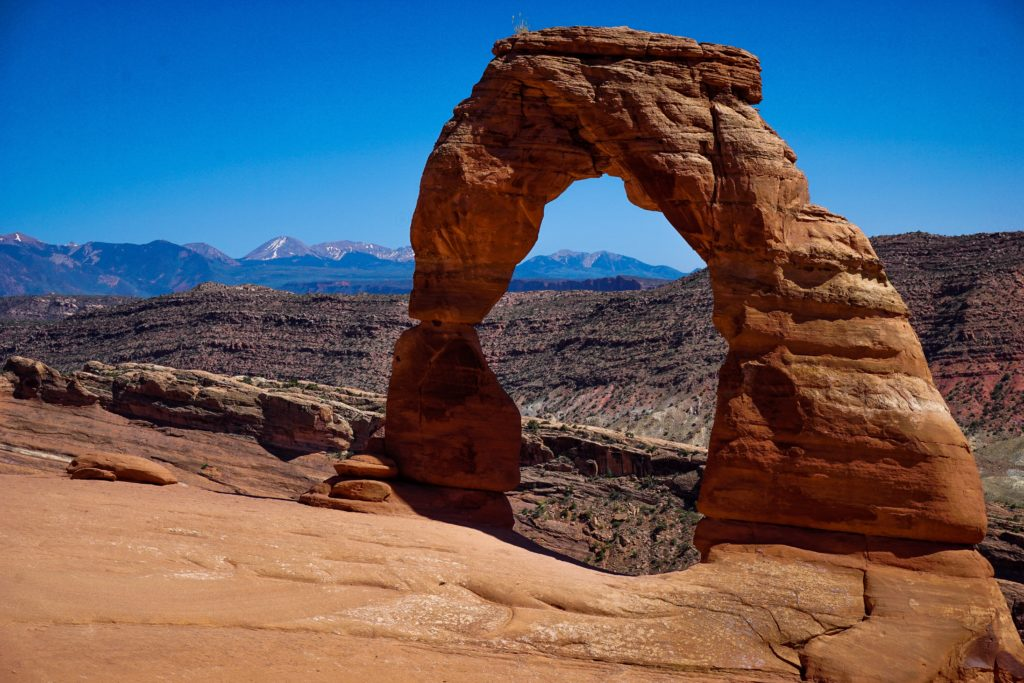 Rock formation overlooking Arches National Park