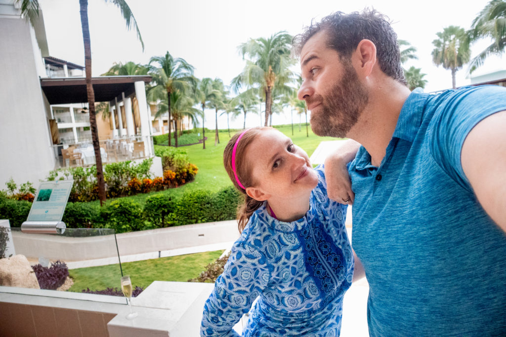 Couple hanging out at Now Jade Riviera in Puerto Morelos, Mexico