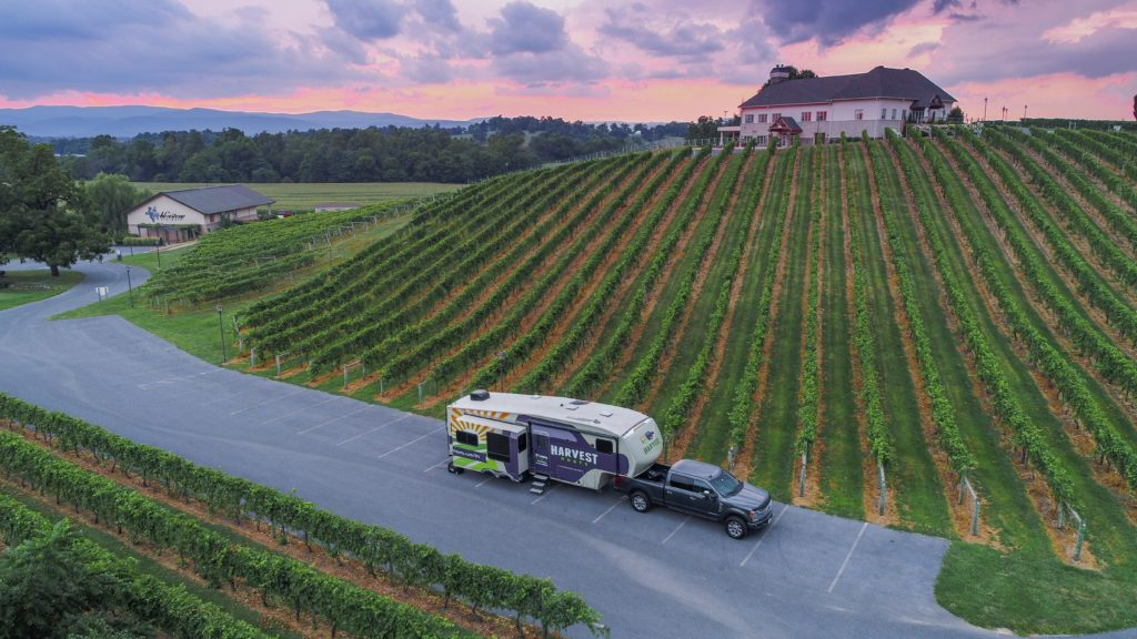 Harvest Host winery for self-serviced campers to boon dock