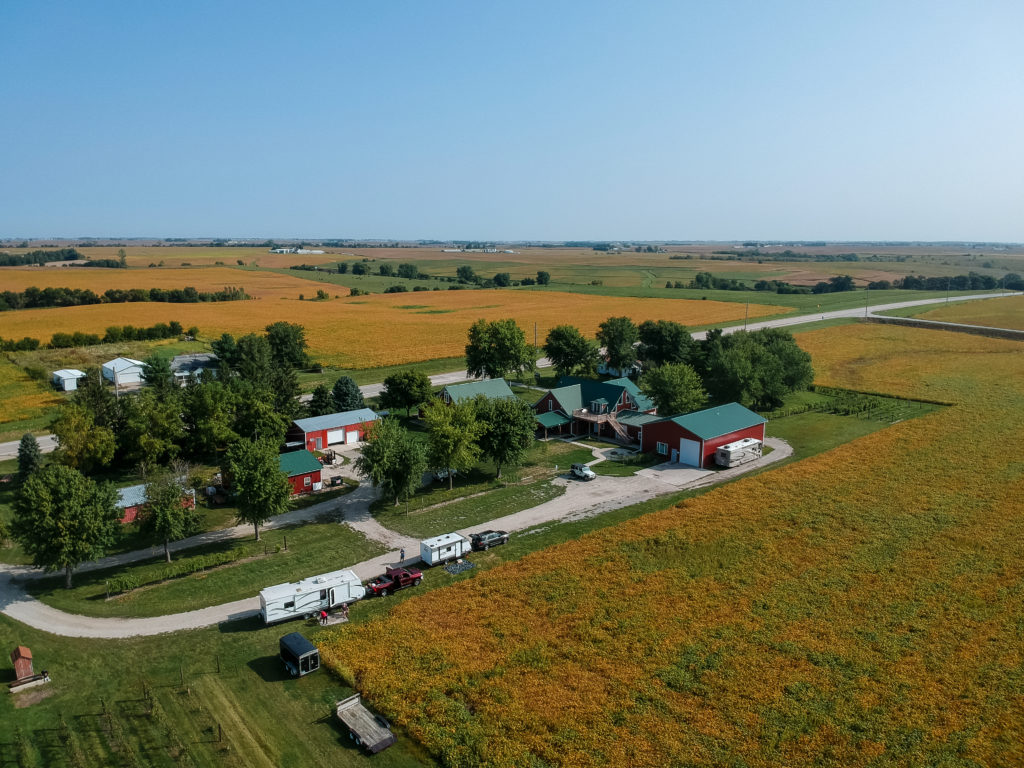 Overview of Harvest Hosts Wooden Wheel Vineyard in Keota, IA | fall camping tips