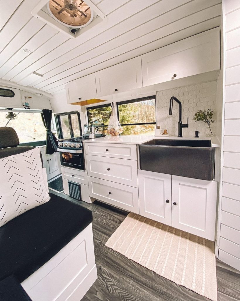 Updated interior of an RV | camper decor ideas